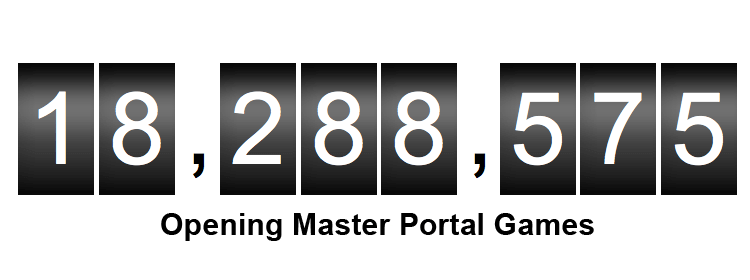 18 million portal games and other news from Opening Master